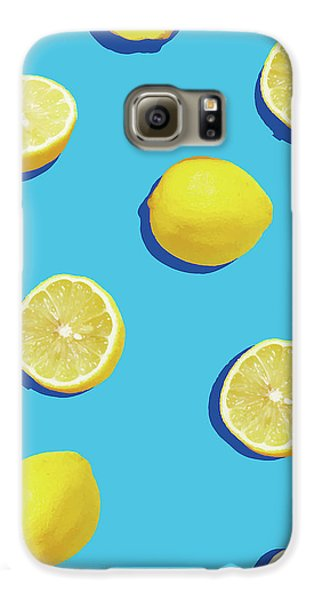 Lemon Pattern Galaxy S6 Case