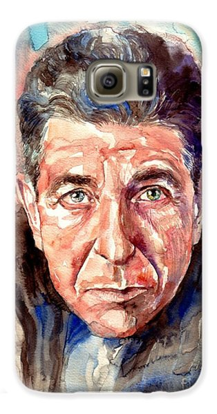 Rolling Stone Magazine Galaxy S6 Case - Leonard Cohen Painting by Suzann's Art