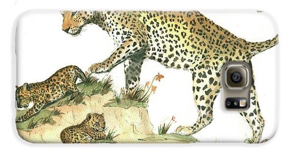 Leopard Galaxy S6 Case - Leopard Family by Juan Bosco