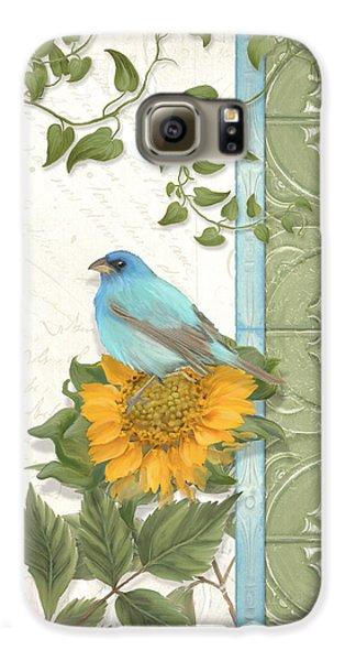 Bunting Galaxy S6 Case - Les Magnifiques Fleurs Iv - Secret Garden by Audrey Jeanne Roberts