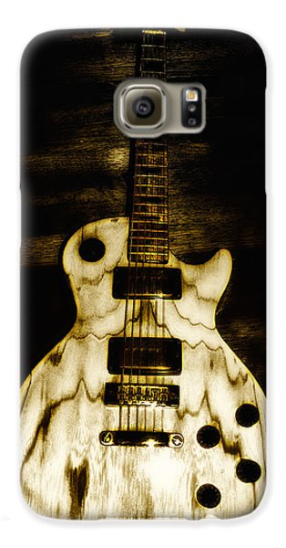 Music Galaxy S6 Case - Les Paul Guitar by Bill Cannon