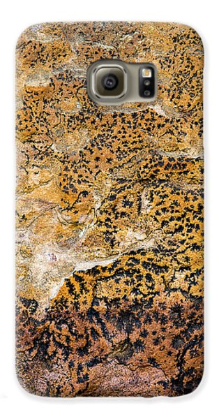 Galaxy S6 Case featuring the photograph Lichen Abstract, Bhimbetka, 2016 by Hitendra SINKAR