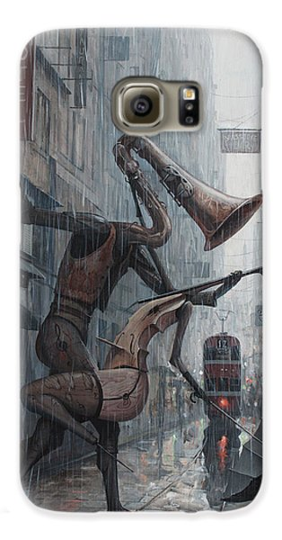 Life Is  Dance In The Rain Galaxy S6 Case by Adrian Borda