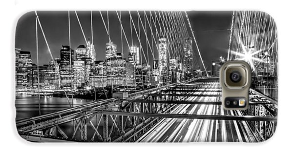 Light Trails Of Manhattan Galaxy S6 Case by Az Jackson
