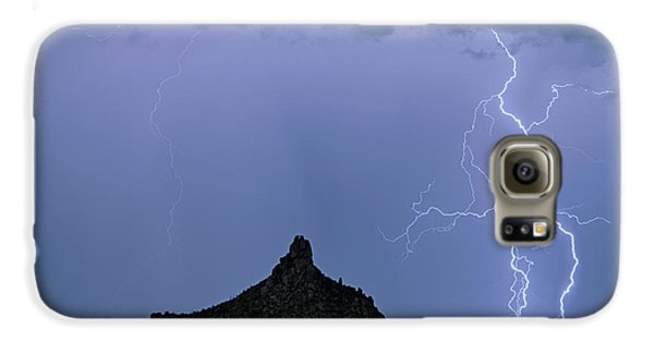 Galaxy S6 Case featuring the photograph Lightning Bolts And Pinnacle Peak North Scottsdale Arizona by James BO Insogna