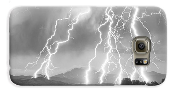 Lightning Striking Longs Peak Foothills 4cbw Galaxy S6 Case by James BO  Insogna