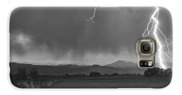Lightning Striking Longs Peak Foothills 5bw Galaxy S6 Case by James BO  Insogna