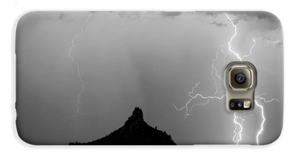 Lightning Thunderstorm At Pinnacle Peak Bw Galaxy S6 Case by James BO  Insogna
