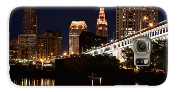 Lights In Cleveland Ohio Galaxy S6 Case