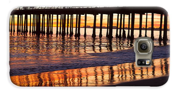 Galaxy S6 Case featuring the photograph Sunset Seacliff Shadows by Lora Lee Chapman