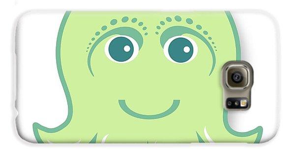 Galaxy S6 Case - Little Cute Green Octopus by Ainnion