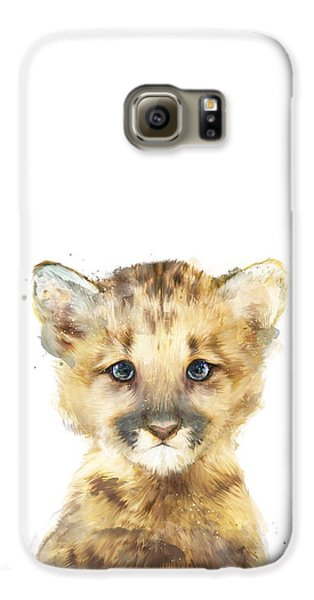 Lion Galaxy S6 Case - Little Mountain Lion by Amy Hamilton