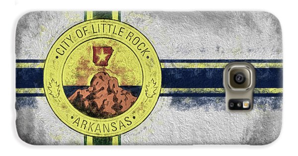 Galaxy S6 Case featuring the digital art Little Rock City Flag by JC Findley