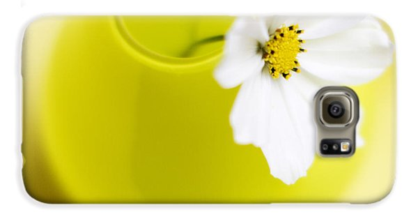 Flowers Galaxy S6 Case - Little Yellow Vase by Rebecca Cozart