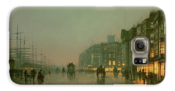 Liverpool Docks From Wapping Galaxy S6 Case by John Atkinson Grimshaw