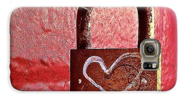 Lock/heart Galaxy S6 Case by Julie Gebhardt