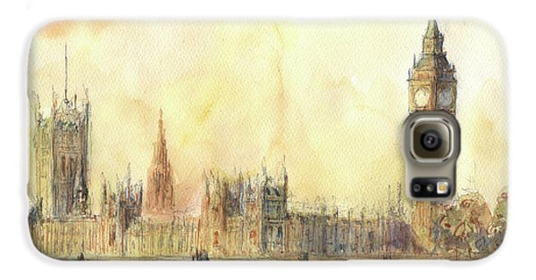 London Big Ben And Thames River Galaxy S6 Case by Juan Bosco