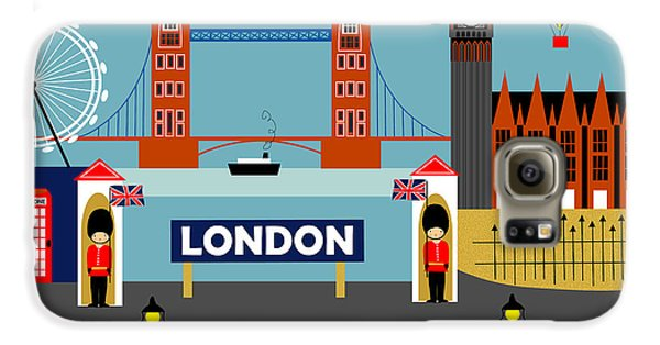 London Galaxy S6 Case - London England Horizontal Scene - Collage by Karen Young