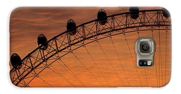 London Eye Sunset Galaxy S6 Case by Martin Newman