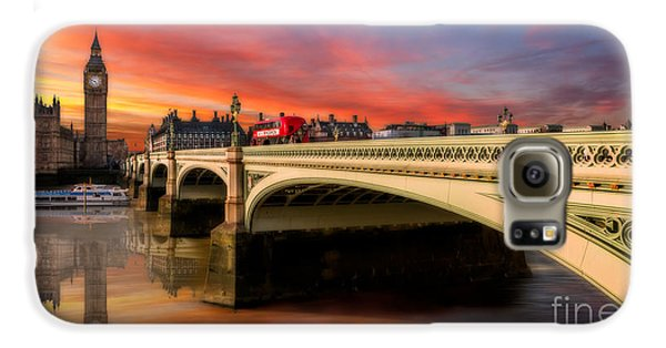 London Galaxy S6 Case - London Sunset by Adrian Evans