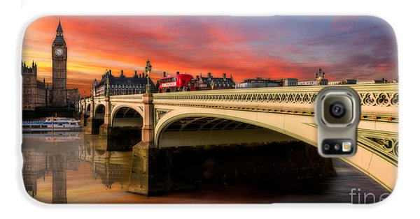 London Sunset Galaxy S6 Case by Adrian Evans