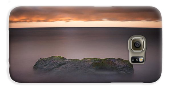Galaxy S6 Case featuring the photograph Lone Stone At Sunrise by Adam Romanowicz