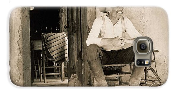 Lonesome Dove Gus On Porch Signed Print Galaxy S6 Case