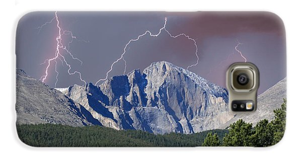 Longs Peak Lightning Storm Fine Art Photography Print Galaxy S6 Case by James BO  Insogna