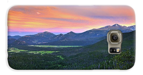 Galaxy S6 Case featuring the photograph Longs Peak Sunset by David Chandler