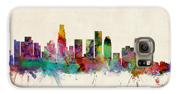 Los Angeles California Skyline Signed Galaxy S6 Case by Michael Tompsett