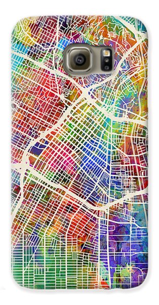 Los Angeles Galaxy S6 Case - Los Angeles City Street Map by Michael Tompsett