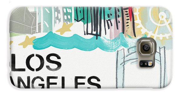 Los Angeles Cityscape- Art By Linda Woods Galaxy S6 Case by Linda Woods