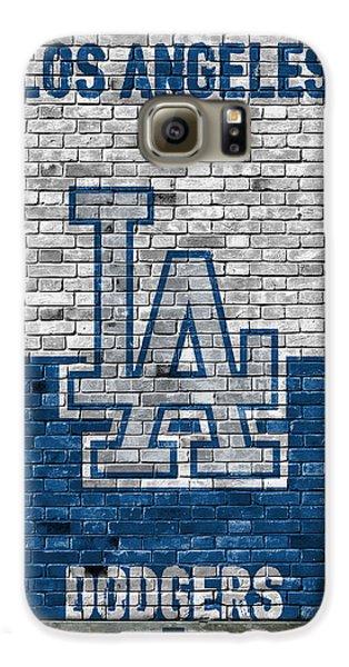 Los Angeles Dodgers Galaxy S6 Case - Los Angeles Dodgers Brick Wall by Joe Hamilton