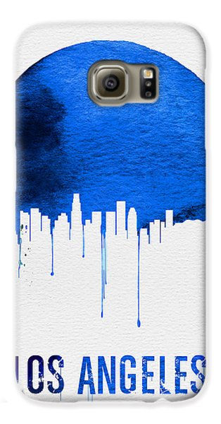 Los Angeles Skyline Blue Galaxy S6 Case by Naxart Studio