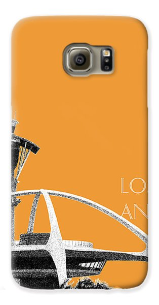 Los Angeles Skyline Lax Spider - Orange Galaxy S6 Case by DB Artist