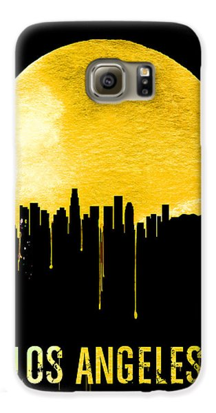 Los Angeles Skyline Yellow Galaxy S6 Case by Naxart Studio