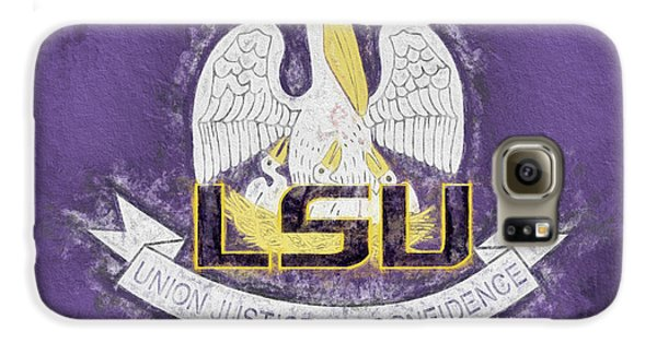 Galaxy S6 Case featuring the digital art Louisiana Lsu State Flag by JC Findley