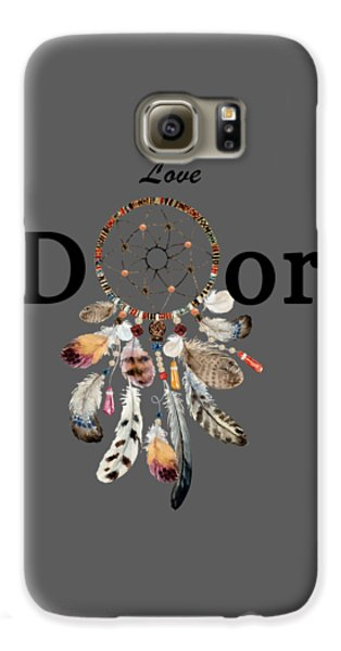 Galaxy S6 Case featuring the painting Love Dior Watercolour Dreamcatcher by Georgeta Blanaru