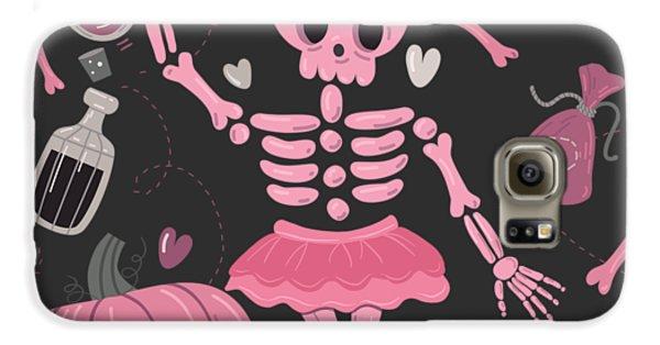 Voodoo Galaxy S6 Case - Love Potion Skeleton Dance by Little Bunny Sunshine