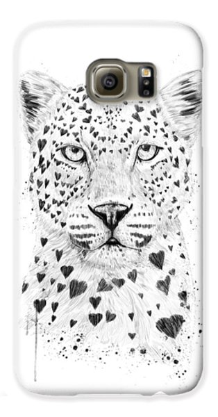 Leopard Galaxy S6 Case - Lovely Leopard by Balazs Solti
