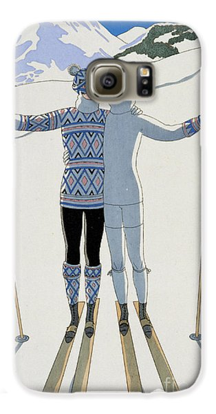 Lovers In The Snow Galaxy S6 Case by Georges Barbier