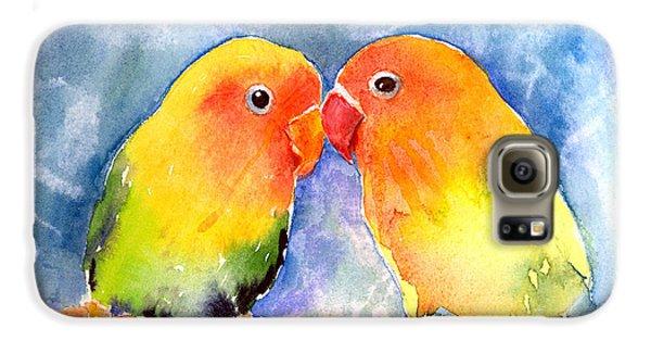 Lovey Dovey Lovebirds Galaxy S6 Case by Arline Wagner