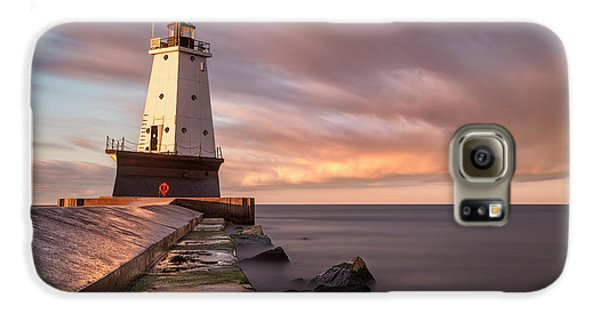 Galaxy S6 Case featuring the photograph Ludington Light Sunrise Long Exposure by Adam Romanowicz