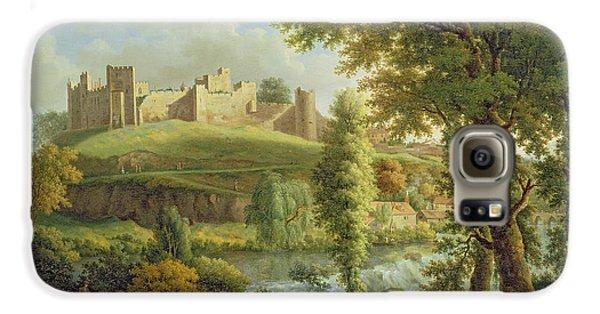 Castle Galaxy S6 Case - Ludlow Castle With Dinham Weir by Samuel Scott
