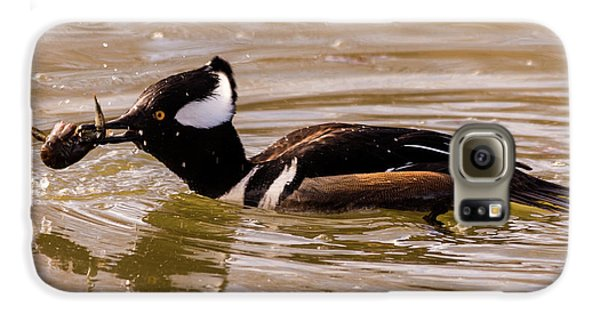 Galaxy S6 Case featuring the photograph Lunchtime For The Hooded Merganser by Randy Scherkenbach
