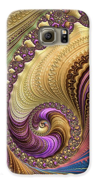 Luxe Colorful Fractal Spiral Galaxy S6 Case