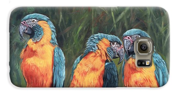Macaws Galaxy S6 Case by David Stribbling