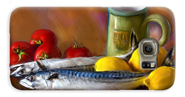 Mackerels, Lemons And Tomatoes Galaxy S6 Case by Juan Carlos Ferro Duque