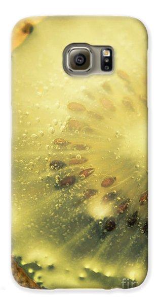 Macro Shot Of Submerged Kiwi Fruit Galaxy S6 Case
