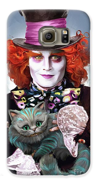 Mad Hatter And Cheshire Cat Galaxy S6 Case